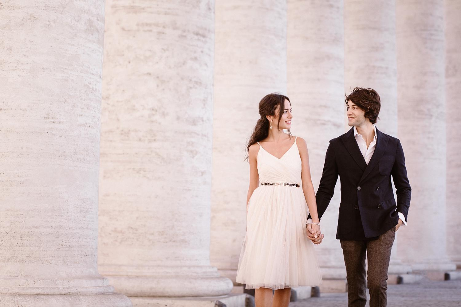 gs weddingphotographer rome 01 - Giulia & Simone - Elegant Couple Shooting in Rome