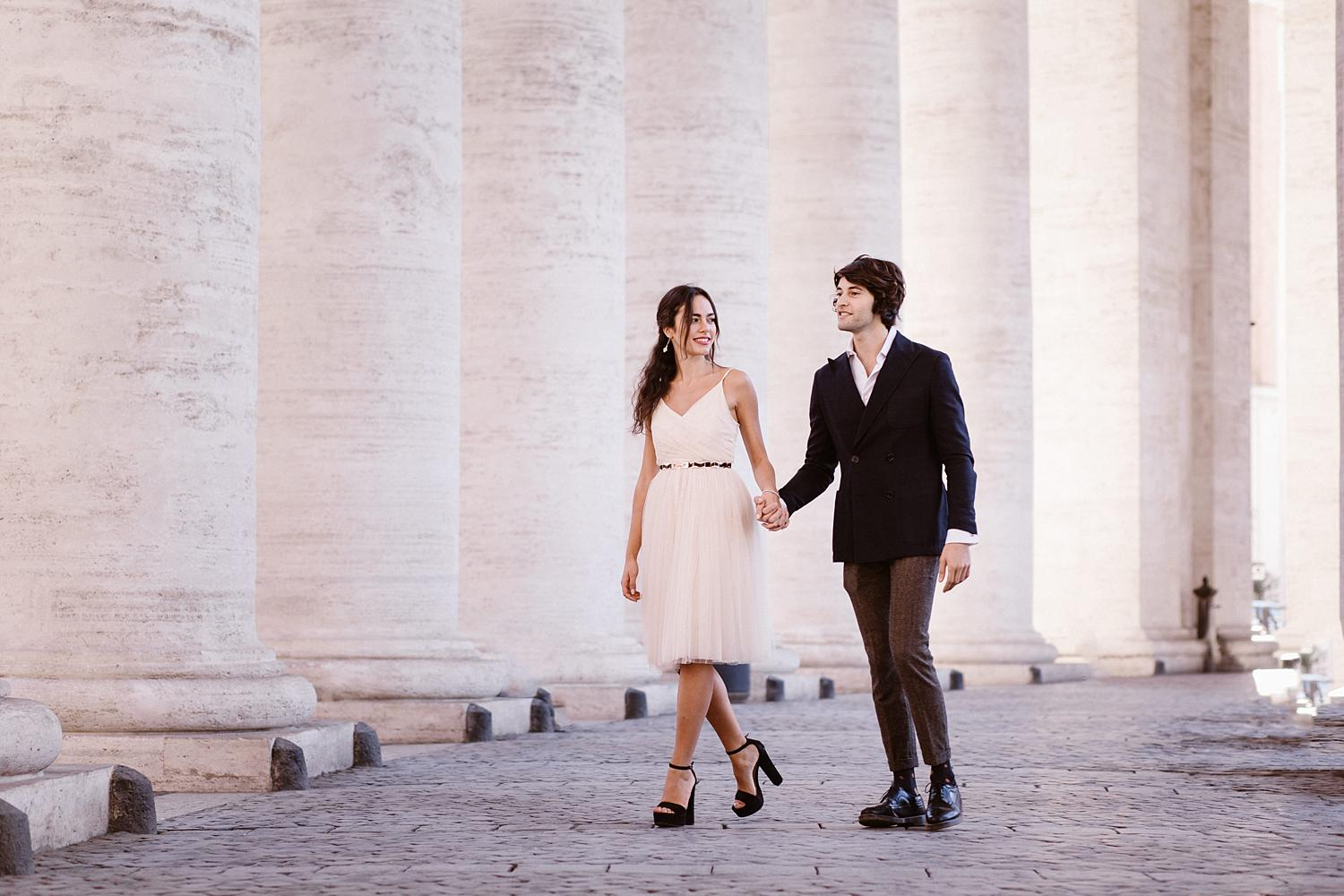 gs weddingphotographer rome 02 - Giulia & Simone - Elegant Couple Shooting in Rome