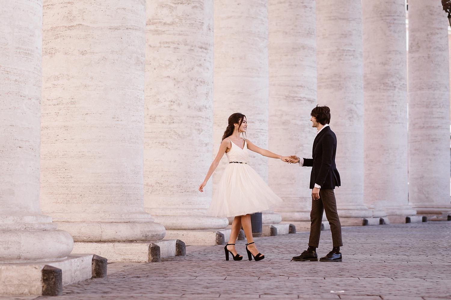 gs weddingphotographer rome 03 - Giulia & Simone - Elegant Couple Shooting in Rome
